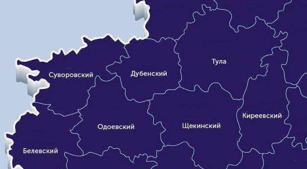 Районы Тульской области, зараженные коронавирусом. Данные на 14 июля