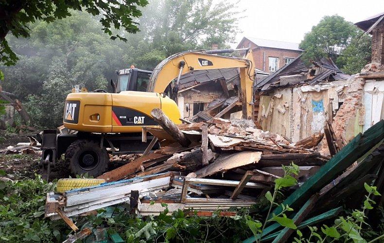 За два года в центре Тулы снесено более 1 100 незаконных строений