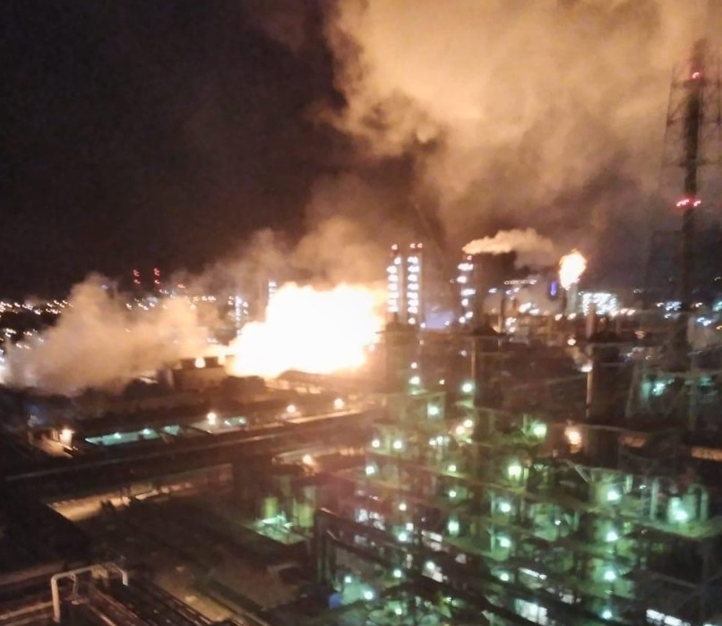 Новомосковский «Азот» с Ростехнадзором начал расследование причин разрушений, повлекшие возгорание
