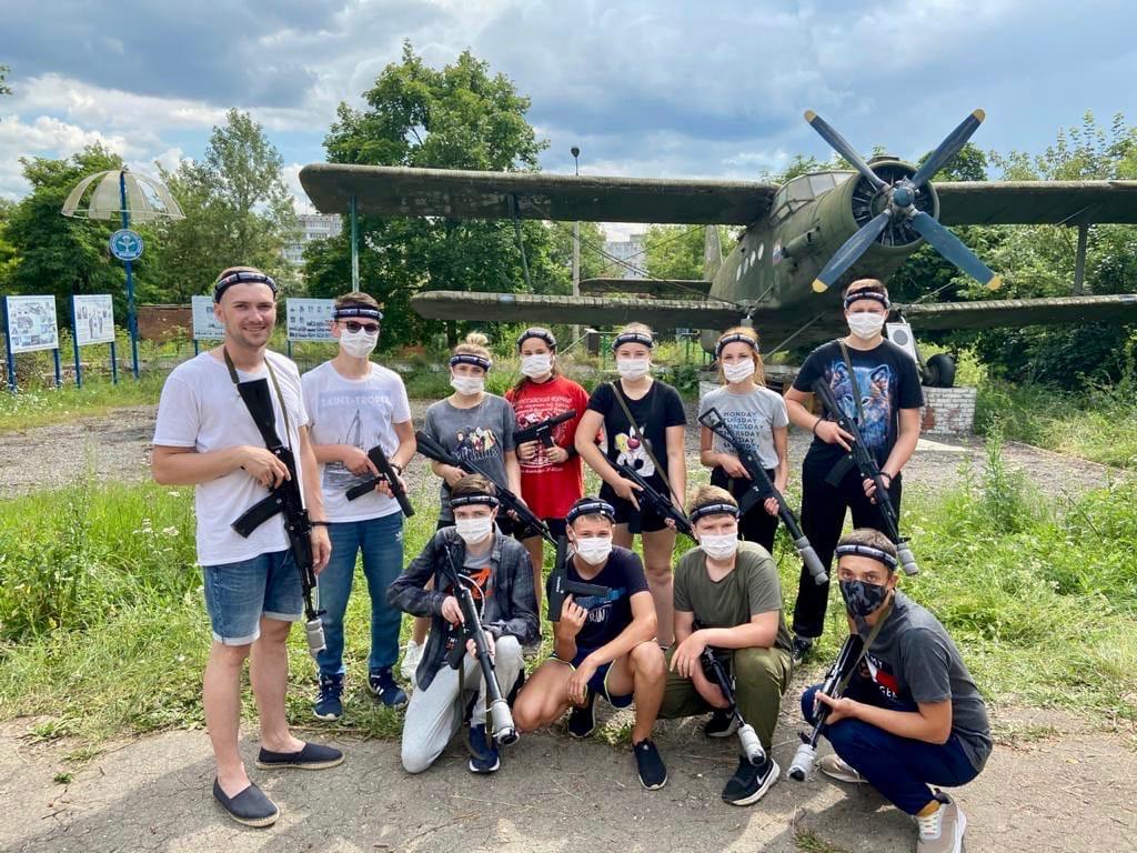 Юнармейцы Щекинского района сразились в «Лазертаг» со сверстниками из Тулы