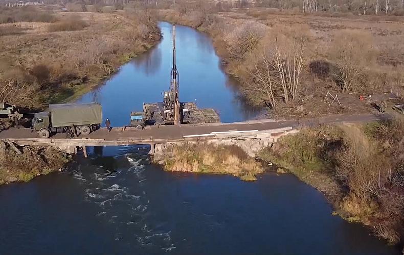 Возведение мостов через реки Шат и Упа в Тульской области завершено раньше срока