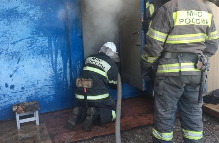 Туляк пострадал при пожаре в гараже