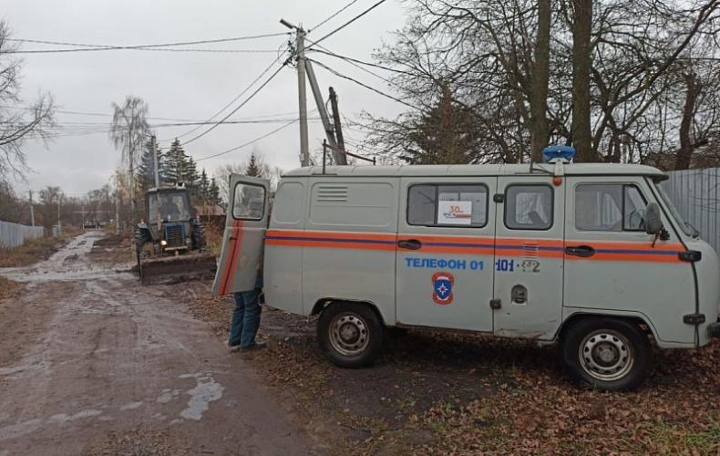 Сотни домов в городе Щекино остались без воды