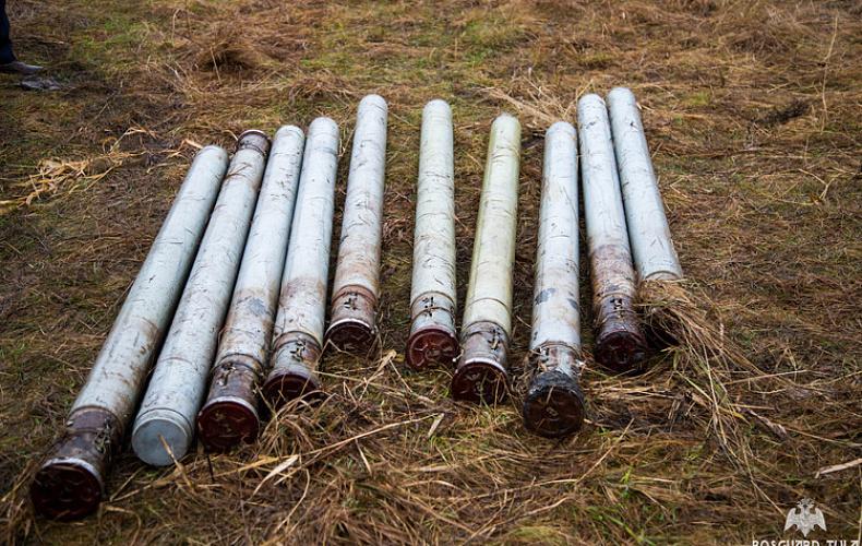 Рыбаки обнаружили корпуса от снарядов РСЗО «Град» в Тульской области