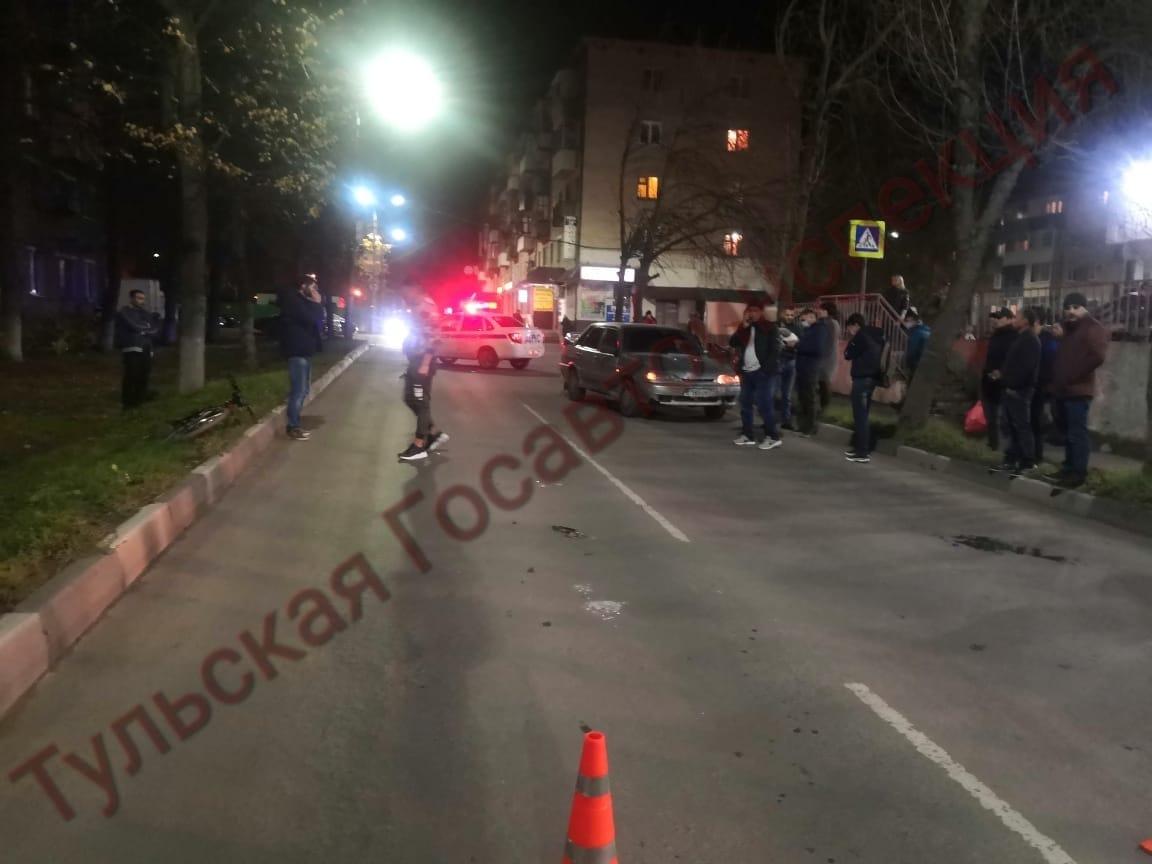 В Туле на улице Щахова сбили школьника на велосипеде