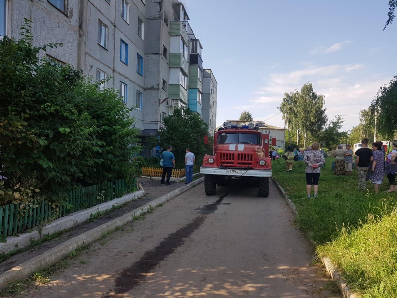 На пожаре в Одоеве пострадала 84-летняя женщина