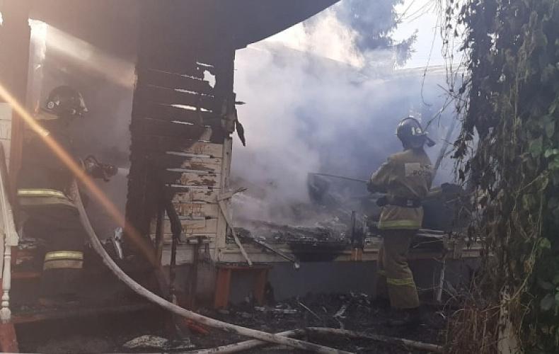 В Заокском районе в пожаре пострадал человек