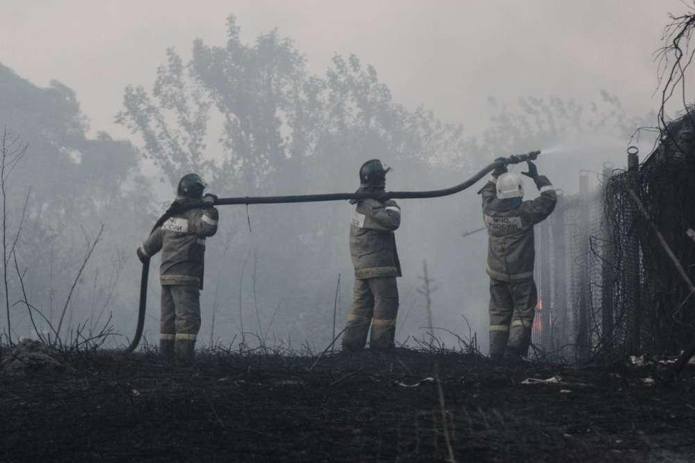 Тульские спасатели отправились на тушение лесных пожаров в Воронежскую область