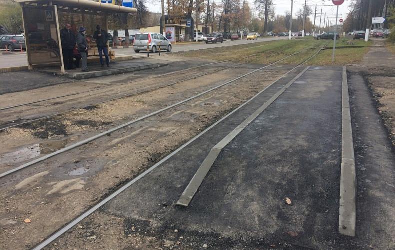 В Пролетарском районе Тулы установили трамвайную остановку