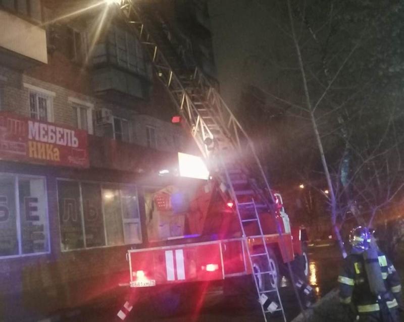 На пожаре в Туле спасли 12 человек