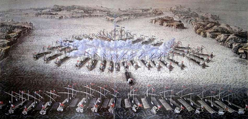9 августа 1714 года – победа русского флота над шведами у мыса Гангут