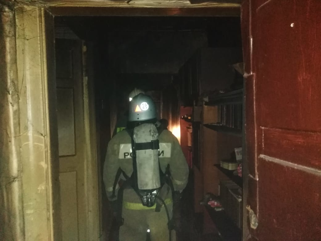 В Алексине в пожаре погиб человек