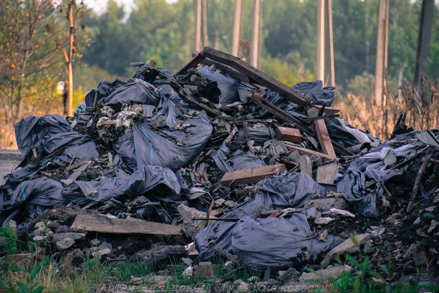 В Заокском районе Тулы ликвидировали несанкционированную свалку