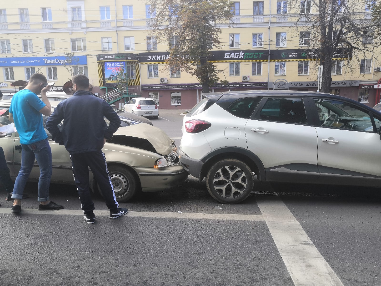 На проспекте Ленина в Туле столкнулись Daewoo и Renault
